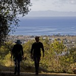 Hiking the Franklin Trail with views of the Channel Islands