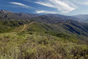 ridge trail at Rancho Monte Alegre