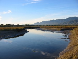 Reflective water at Carpinteria Salt Marsh