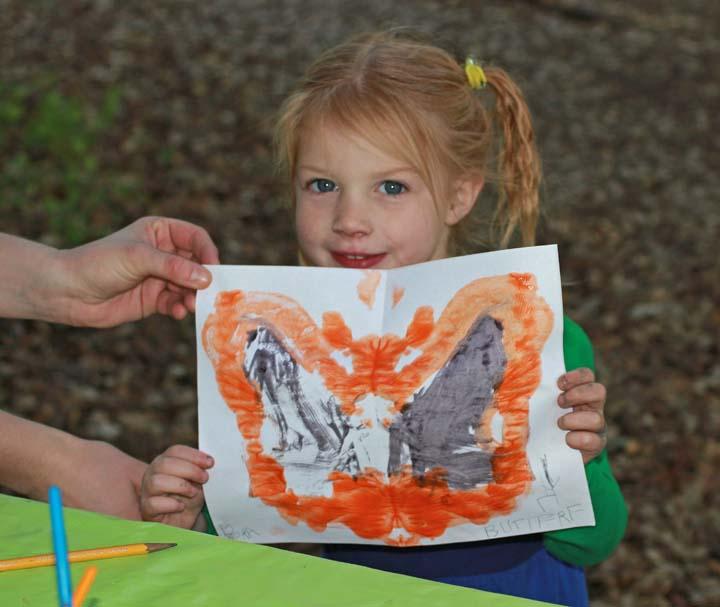 Girl & butterfly x