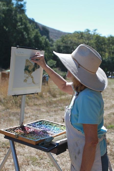 Plein Air 2011 artist at work