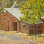 Kerri Hedden Discovery Barn, oil $425