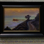 New Moon, Carpinteria Bluffs by Thomas Van Stein, oil 10x12, $1900