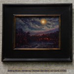 Setting Moon, Winter by Thomas Van Stein, oil 12x16, $1500