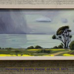 Incoming by Jeremy Harper, oil 10x20, $675