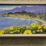 The Carpinteria Bluffs by Jeremy Harper, oil 10x16, $500