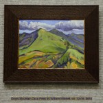 Grass Mountain Zaca Peak by William Mitchell, oil  12x16, $650