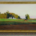 Evening Meditation, Carp. Bluffs by Arturo Tello, oil 30x60, $5000