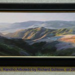 Rolling Hills, Rancho Arbolado by Richard Schloss, oil 20x48, $7600