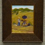 Artist and Consultant (SOLD) by William Mitchell, oil  8x10, $450