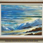Seascape, Gaviota by Larry Iwerks, oil 36x48, $8000