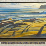Hondo Beach by Larry Iwerks, oil 18x36, $3000