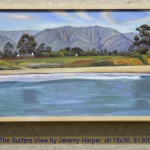The Surfers View by Jeremy Harper, oil 18x36, $1300