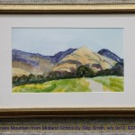 Grass Mountain from Midland School by Skip Smith, w/c 9x12, $375