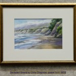 Secluded Strand by Chris Chapman, pastel 7x11, $650