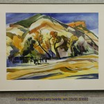 Canyon Festival by Larry Iwerks, w/c 22x30, $1600