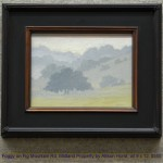 Foggy on Fig Mountain Rd, Midland Property by Allison Horst, oil 9 x 12, $550