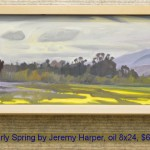 Early Spring by Jeremy Harper, oil 8x24, $675