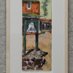 The Bell at Midland School by Whitney Hansen, oil 7x10, $800