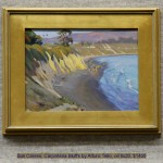 Sun Caress, Carpinteria Bluffs by Arturo Tello, oil 8x20, $1400