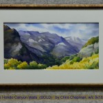 Arroyo Hondo Canyon Walls  (SOLD)   by Chris Chapman, w/c 9x18, $900
