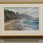 Gaviota Morning by Chris Chapman, pastel 14x22, $1400