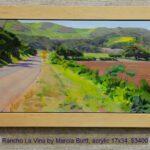 Rancho La Vina by Marcia Burtt, acrylic 17x34, $3400