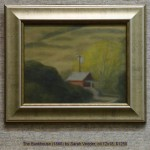 The Bunkhouse (1866) by Sarah Vedder, oil 12x18, $1250