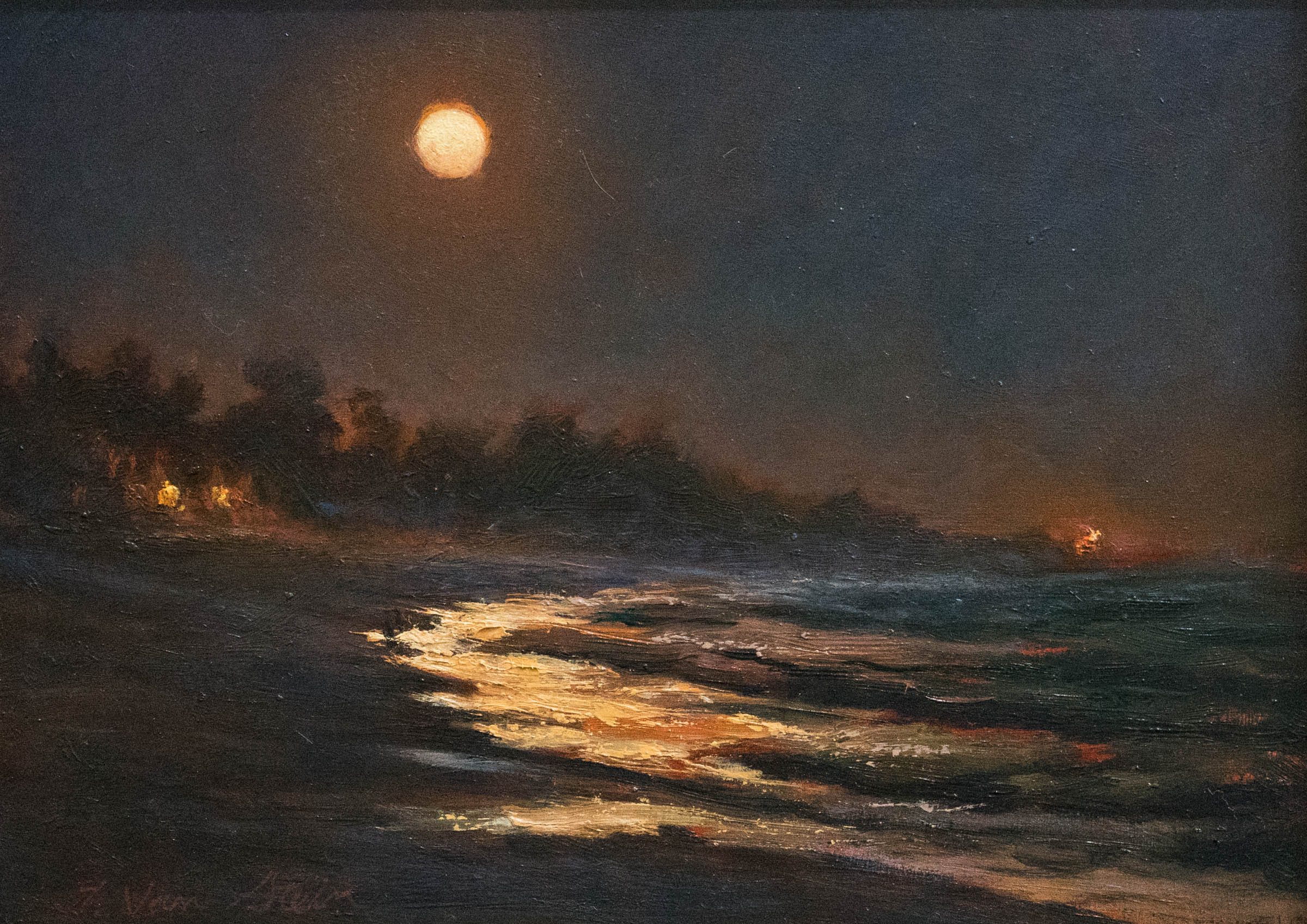 Moonrise, Carpinteria Beach, Thomas Van Stein -- SOLD