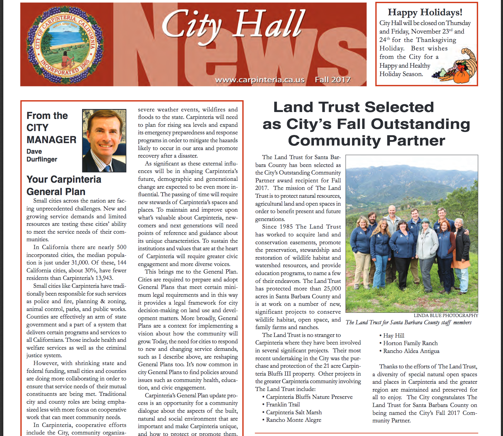 Land Trust Selected As Carpinteria's Fall Outstanding Community Partner